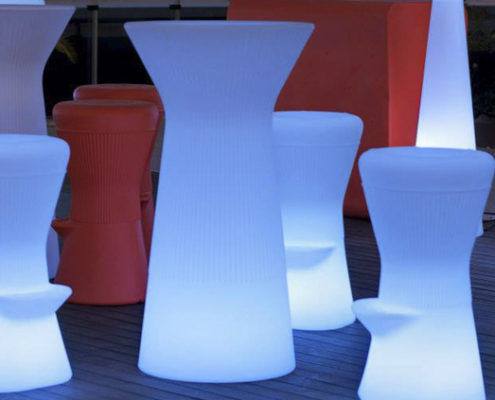 Mesa Alta con Led Moonlight Izar